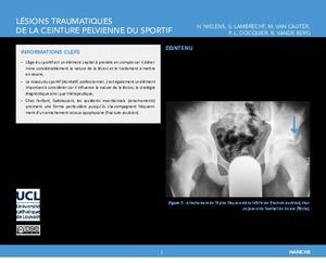 """""""Lésions traumatiques de la ceinture pelvienne du sportif"""" icon"""