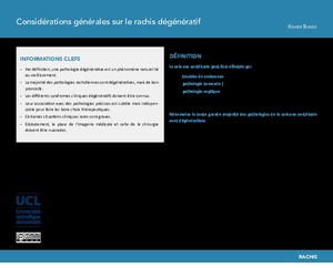 """""""Considérations générales sur le rachis dégénératif"""" icon"""