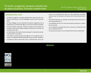 """""""Torticolis congénital, paralysie obstétricale du plexus brachial, fractures obstétricales"""" icon"""