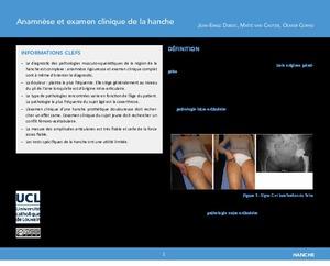 Anamnèse et examen clinique de la hanche icon