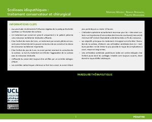 Scolioses idiopathiques : traitement conservateur et chirurgical icon