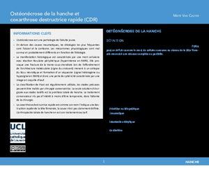OER-UCLouvain: Ostéonécrose de la hanche et coxarthrose destructrice rapide (CDR) icon