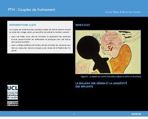 Prothèse totale de hanche (PTH): couples de frottement icon