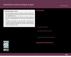 """""""Anamnèse et examen clinique du pied"""" icon"""