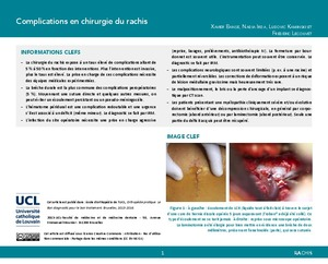 Complications en chirurgie du rachis icon